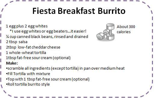 Easy healthy breakfast burrito recipes