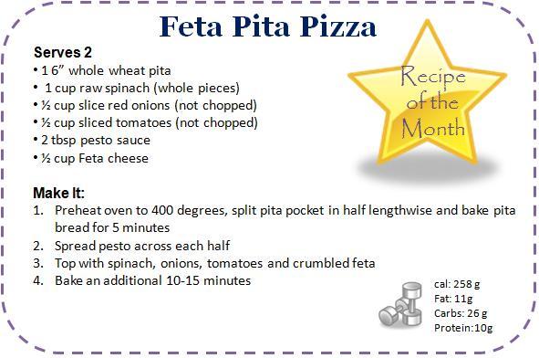 Feta Pita Pizza Recipe